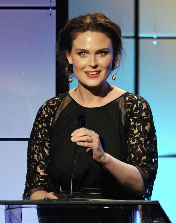 Presenter Emily Deschanel speaks onstage during The Broadcast Television Journalists Association Second Annual Critics' Choice Awards at The Beverly Hilton Hotel on Monday. Photo: Kevin Winter, Getty Images For Critics Choice / 2012 Getty Images