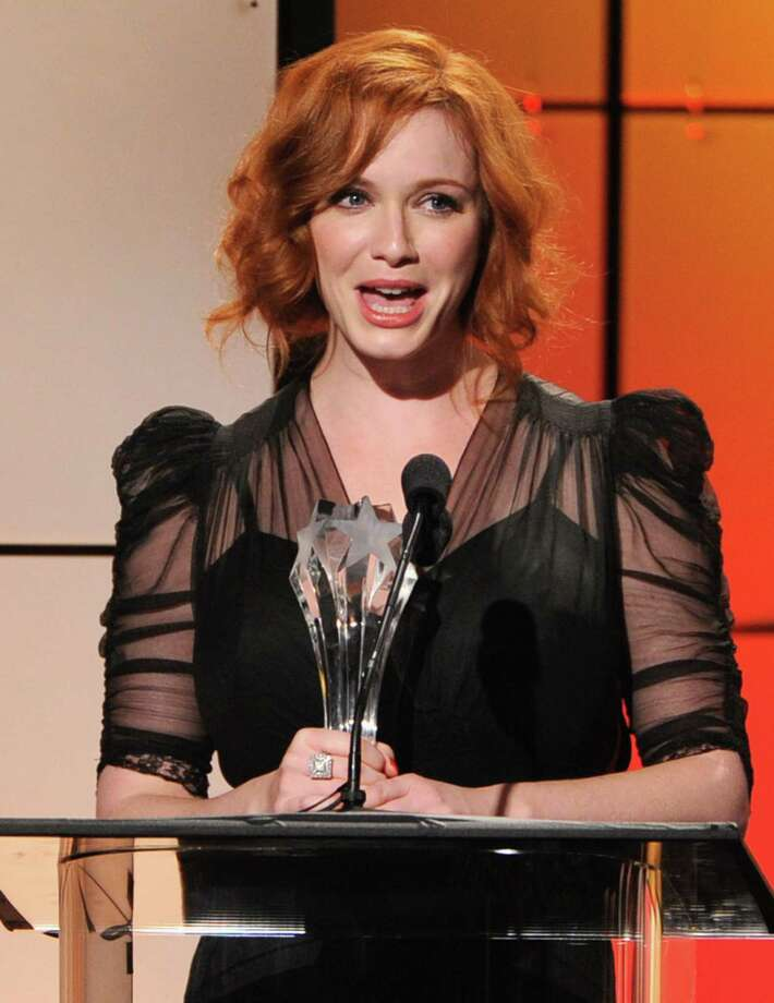 Christina Hendricks accepts the award for Best Drama Supporting Actress onstage during The Broadcast Television Journalists Association Second Annual Critics' Choice Awards at The Beverly Hilton Hotel on Monday. Photo: Kevin Winter, Getty Images For Critics Choice / 2012 Getty Images