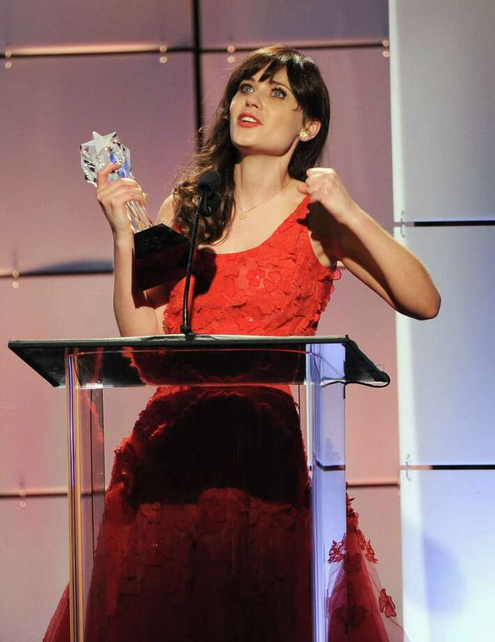 Zooey Deschanel accepts the award for Best Comedy Actress onstage during The Broadcast Television Journalists Association Second Annual Critics' Choice Awards at The Beverly Hilton Hotel on Monday Photo: Kevin Winter, Getty Images For Critics Choice / 2012 Getty Images