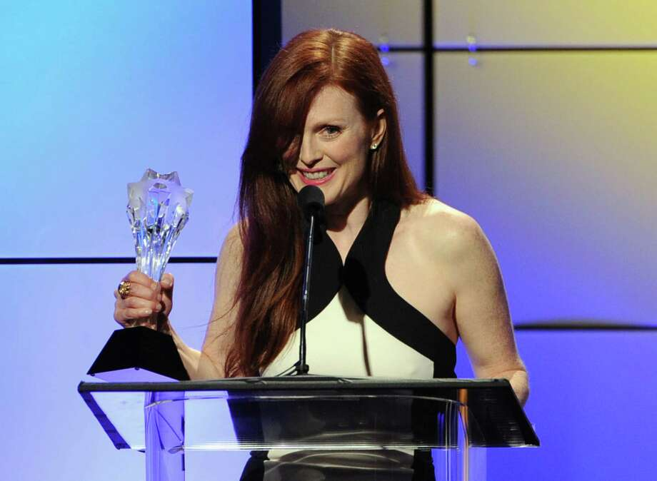 Actress Julianne Moore accepts the award for Best Actress in a Movie onstage during The 2nd Annual Critics' Choice Television Awards at The Beverly Hilton Hotel on Monday. Photo: Kevin Winter, Getty Images For Critics Choice / 2012 Getty Images