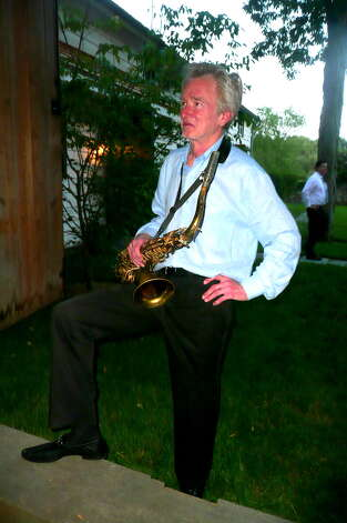 Fourth annual Backcountry Jazz Concert in Greenwich with saxophonist Bennie Wallace,  the Disorder at the Border -All Star Jazz Orchestra, and guest jazz vocalist René Marie – June 16, 2012. Photo: Picasa, Anne W. Semmes
