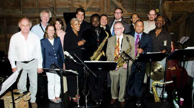 Fourth annual Backcountry Jazz Concert in Greenwich with saxophonist Bennie Wallace,  the Disorder at the Border -All Star Jazz Orchestra, and guest jazz vocalist René Marie – June 16, 2012. Photo: Kersten Schriel