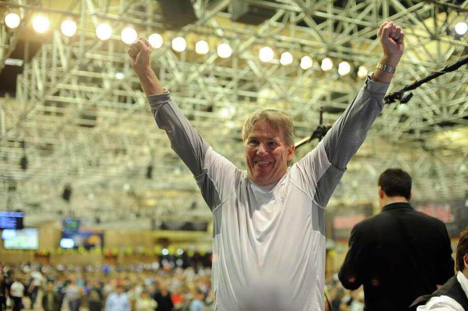 McQueeney resident Larry Wright defeated a field of 284 players, including six professionals and four champions, to win the World Series of Poker Deuce–to-Seven Lowball event in Las Vegas. Photo: Courtesy Photo, Eddie Malluk / 2012 Eddie Malluk
