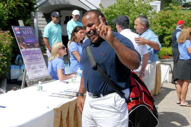 Joe Morris arrives at the NFL Alumni CT Chapter 6th Annual Charity Golf Classic at Country Club of Darien in Darien, Conn. on Monday June 18, 2012. Photo: Dru Nadler / Stamford Advocate Freelance