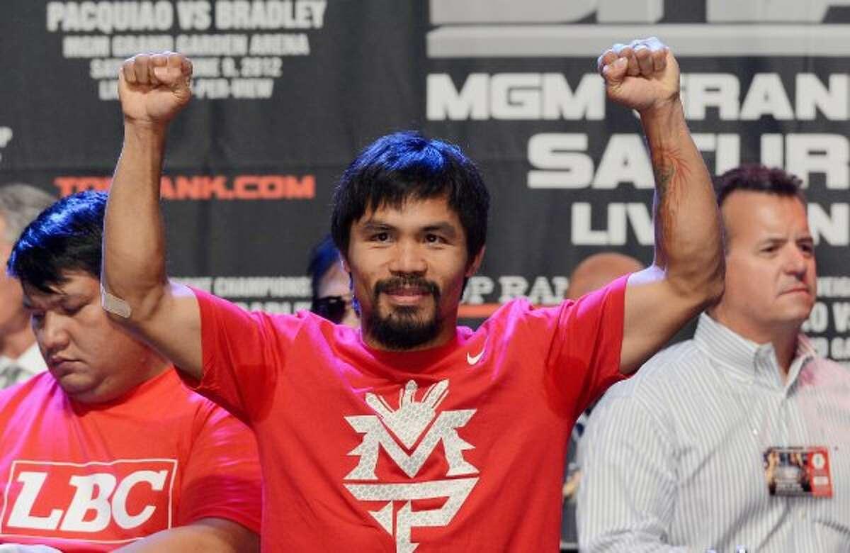 No. 2 Manny Pacquiao / Total earnings: $62 million / Salary/winnings: $56 million / Endorsements: $6 million (Kevork Djansezian / Getty Images)
