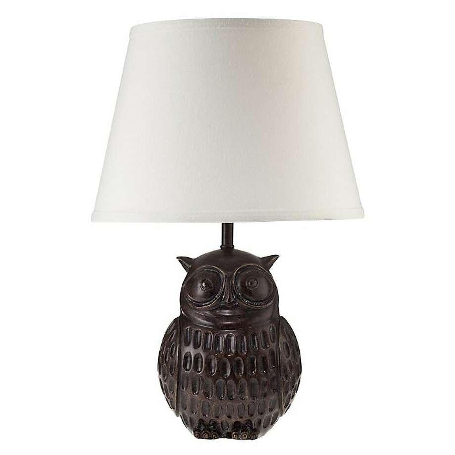 Less: $39 Linen and Resin Owl Lamp from Target (target.com) Photo: Target, Target Photo Studio