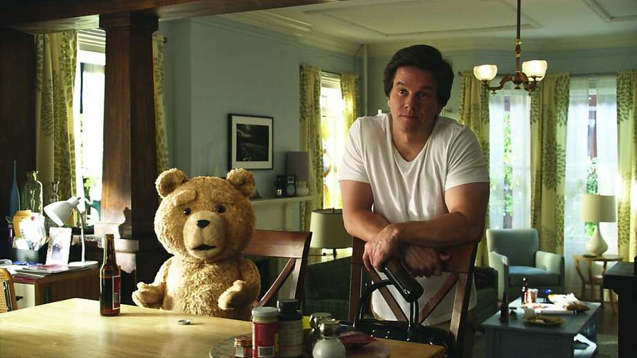 "John (MARK WAHLBERG) hangs out with his best friend, Ted (voiced by SETH MACFARLANE), the toy he wished alive when he was 8, in the live action/CG-animated comedy ""Ted"" 	 	  John (MARK WAHLBERG) hangs out with his best friend, Ted (voiced by SETH MACFARLANE), in the live action/CG-animated comedy ?Ted? Photo: Universal Pictures"