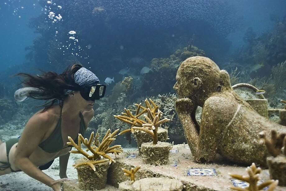 Cancun Underwater Museum Withstands Saline Water