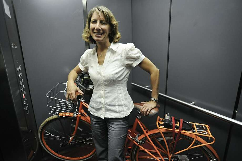 Leah Shahum began as a volunteer with the Bicycle Coalition in 1997, joined the staff the following year and has been executive director since 2003. Photo: Yue Wu, The Chronicle