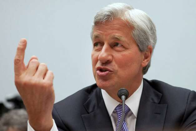 Jamie Dimon, CEO of JPMorgan Chase, testifies before the House Financial Services Committee on Capitol Hill in Washington, on Tuesday, June 19, 2012. (AP Photo/Jacquelyn Martin) Photo: Jacquelyn Martin