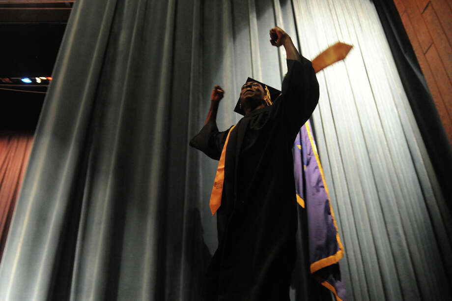 The Academy of Information Technology and Engineering Class of 2012 Commencement at Rippowam School in Stamford, Conn., June 19, 2012. Photo: Keelin Daly / Stamford Advocate