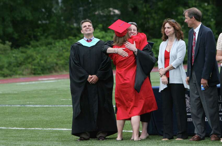 Joseph A. Foran High School holds its commencement ceremony in Milford, Conn. on June 19. 2012.