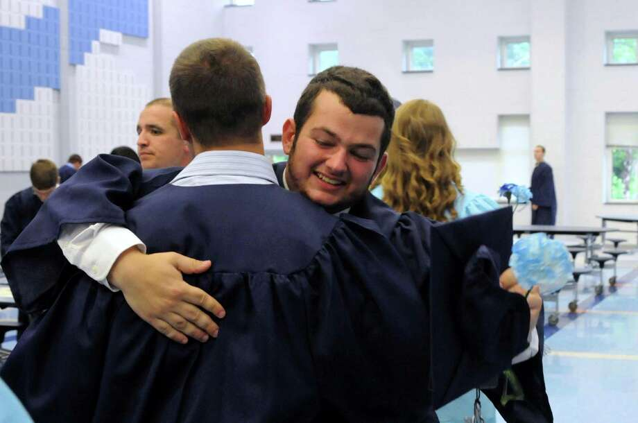 Oxford High School held their graduation ceremony at the campus in Oxford, Conn. on Tuesday June 19, 2012. Photo: Lisa Weir / Connecticut Post Freelance