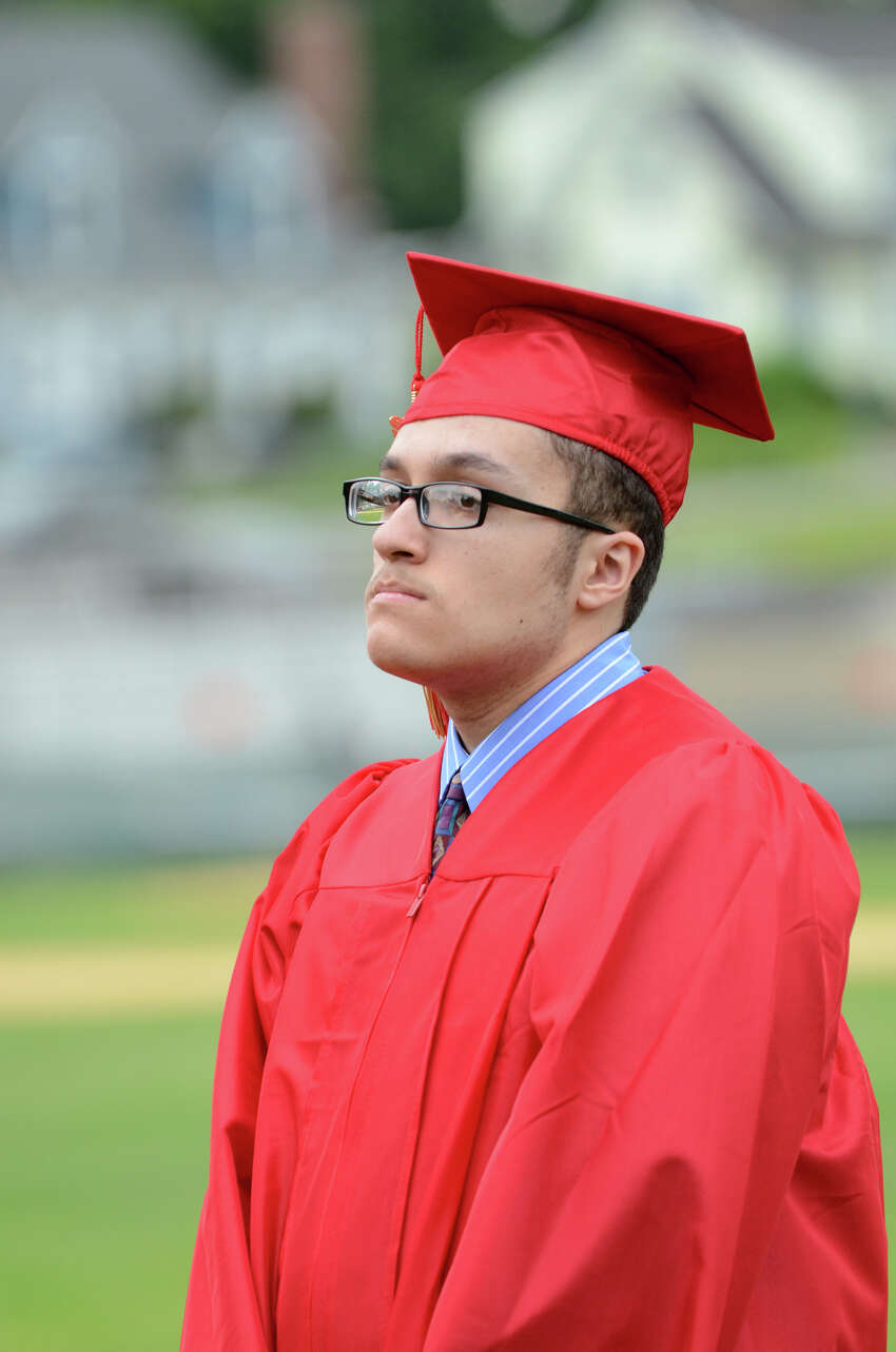 Jibreel Mahmud during Stratford High School's 123rd Commencement at Penders Field in Stratford on Tuesday, June 19, 2012.