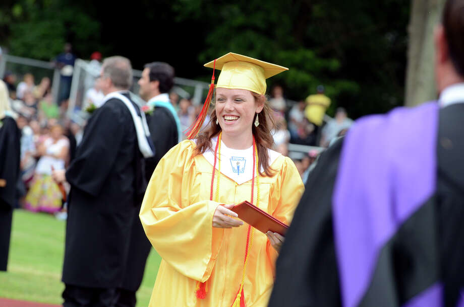 Stratford High School's 123rd Commencement at Penders Field in Stratford on Tuesday, June 19, 2012. Photo: Amy Mortensen / Connecticut Post Freelance