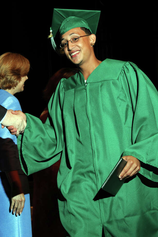 Graduation exercises for the Bassick High School Class of 2012, held at the Klein Memorial Auditorium, in Bridgeport, Conn., June 19th, 2012. Photo: Ned Gerard / Connecticut Post