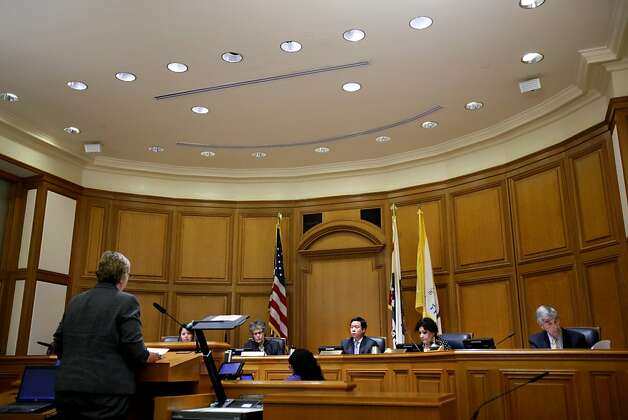 San Francisco deputy city attorney Sherri Kaiser, left, speaks at the Ethics Commission hearing on official misconduct charges against suspended Sheriff Ross Mirkarimi in San Francisco, Calif., Tuesday, June 19, 2012. Photo: Sarah Rice, Special To The Chronicle