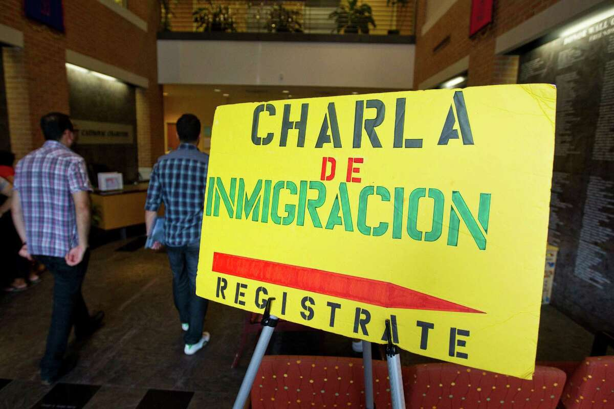 Turnout was high for people interested in applying for U.S. citizenship at Catholic Charities of the Archdiocese of Galveston-Houston on Tuesday in Houston.