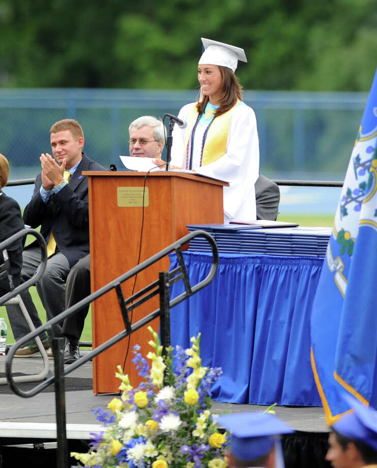Seymour High School holds its commencement ceremony Tuesday, June 19, 2012 at the school in Seymour, Conn. Photo: Autumn Driscoll / Connecticut Post