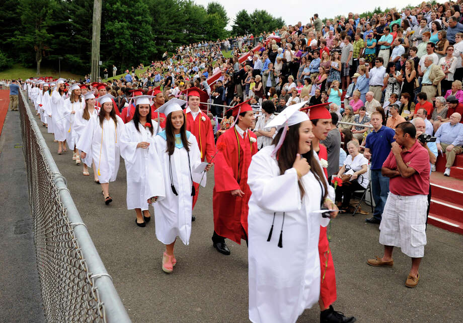 The Masuk High School graduation was held Tuesday, June 19, 2012. Photo: Carol Kaliff