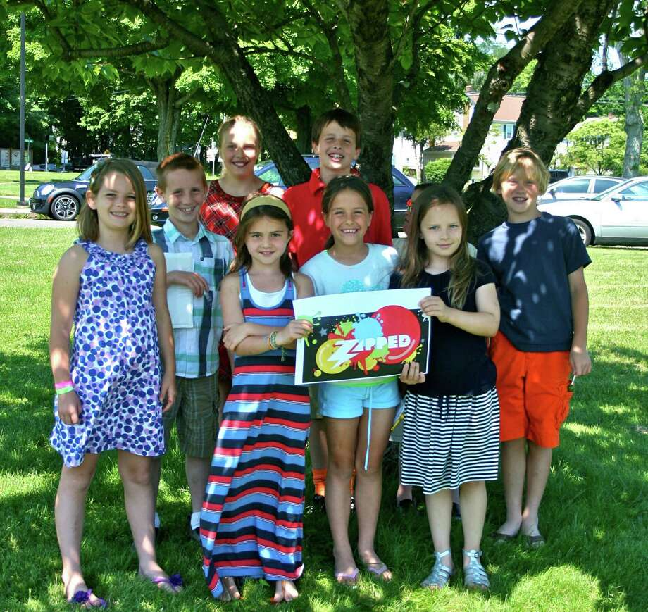 Members of Grace Community Church prepare for ZAPPED, a new summer program. Back row, from left, Sadie Frame, Christopher Richardson, Alexa Pittaro, Jack Richardson, Ethan Hughes and Luke Crowley. Front row, from left, Olivia Quinn, Abby Richardson and Sophie Mulhern. June 22, 2012, New Canaan, Conn. Photo: Contributed Photo