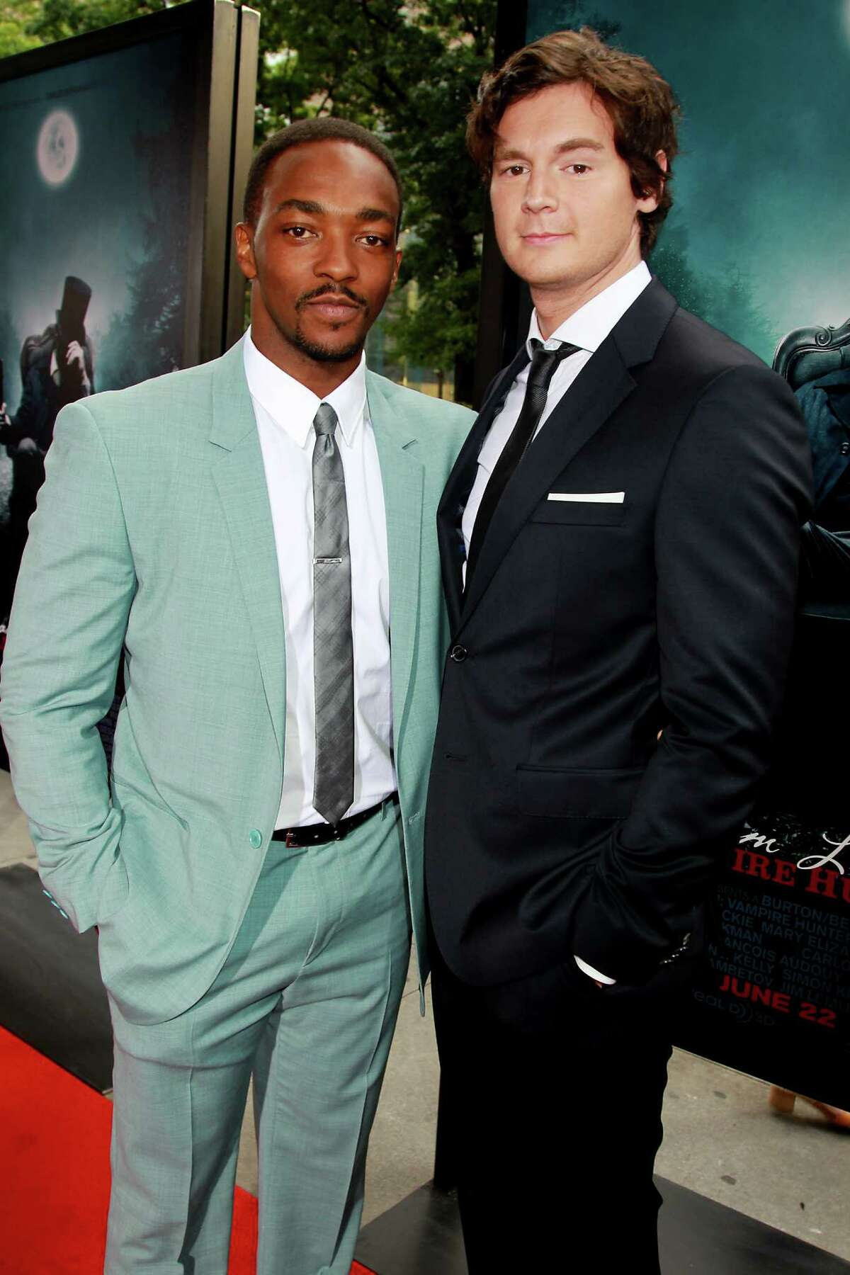 This image released by Starpix shoes actors Anthony Mackie, left, and Benjamin Walker at the premiere of Twentieth Century Fox film,