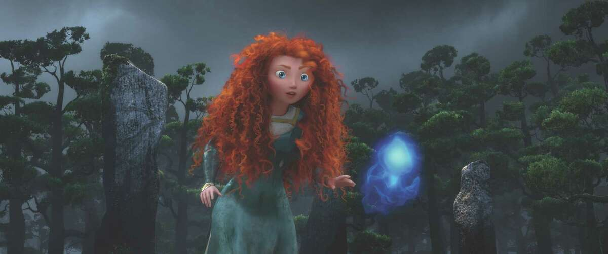 """""""BRAVE"""" Merida following a Wisp. ©2011 Disney/Pixar. All Rights Reserved."""