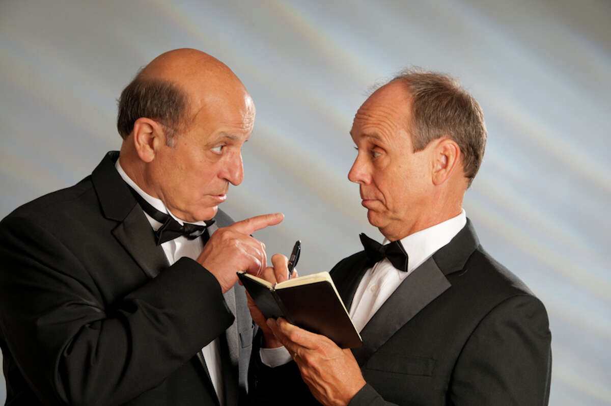 Starring in Adirondack Theatre Festival's production of A.R. Gurney?s ?Black Tie? are, from left, David Bunce and Thom Christoper. (Jim McLaughlin photo)