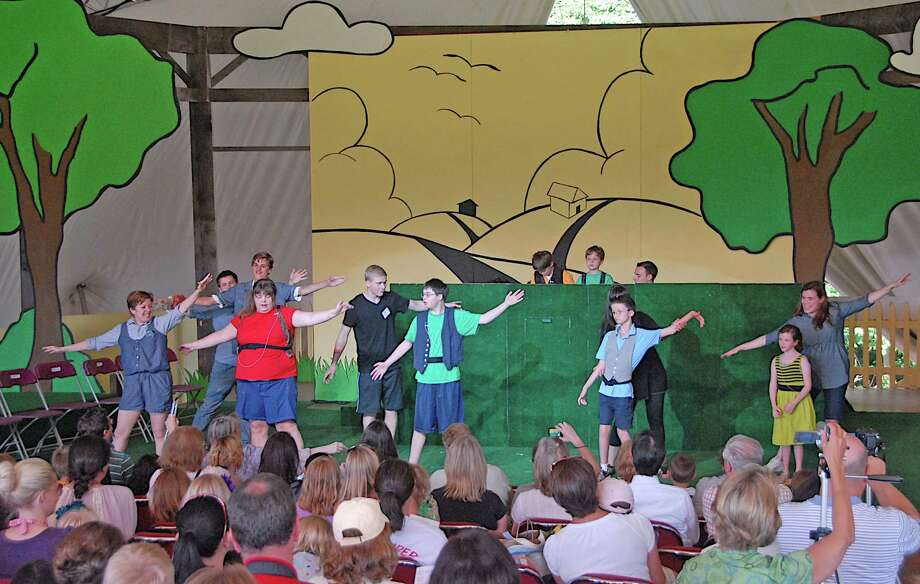 Last year's DramaRama cast performs a show for STONC in New Canaan, Conn. Photo: Contributed Photo