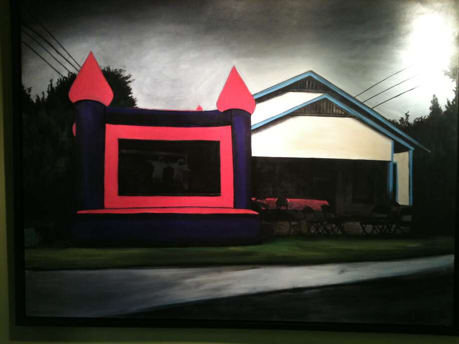 """Moon Bounce"" by Ana Fernandez is part of the exhibit ""!Queers, Presnte!"" at the Esperanza. Photo: Courtesy Ana Fernandez"