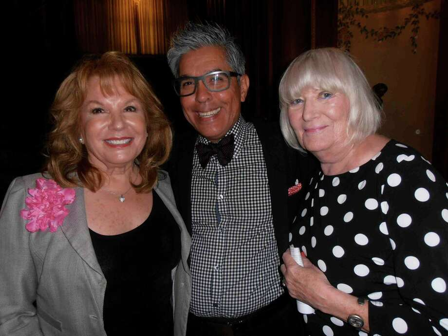 Grammy winner Vikki Carr, left, Express-News fashion writer Michael Quintanilla and music lover Margareta Lindquist enjoy meeting at The Woman's Club luncheon, where Carr was the guest speaker. Photo: Nancy Cook-Monroe