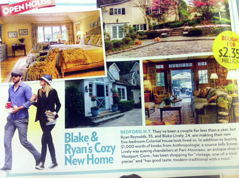 Featured the June 25 issue of People Magazine, Ryan Reynolds and Blake Lively were reportedly chandelier-shopping at Parc Monceau, an antique shop in Westport, Conn. Photo: Contributed Photo