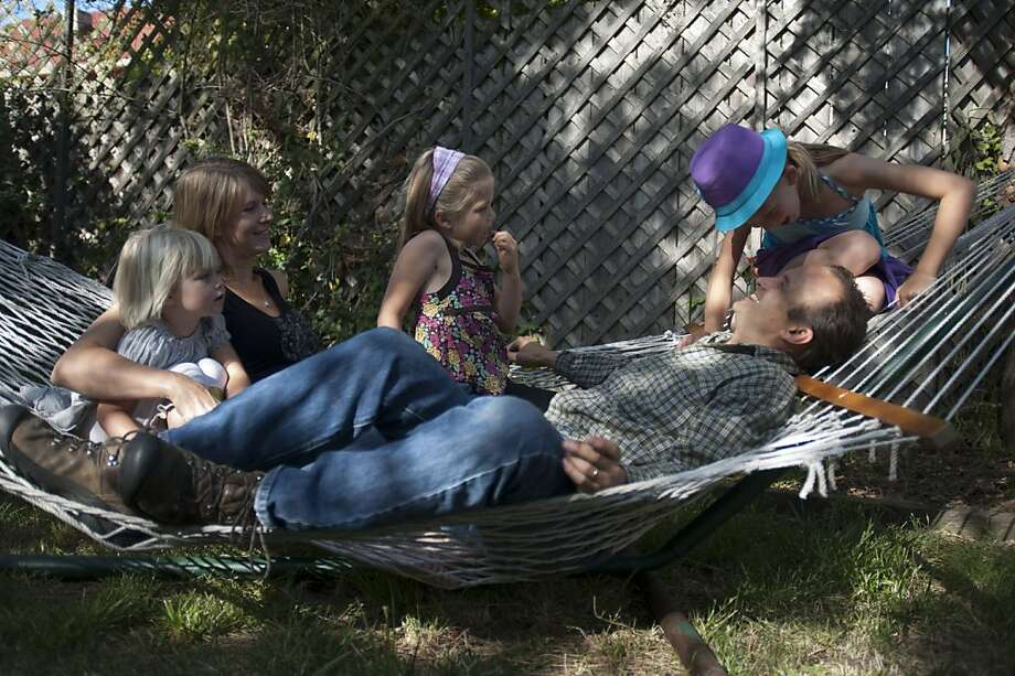 Dooley Family hang out at their home on June 14, 2012, Berkeley, Calif. Photo: Yue Wu, The Chronicle