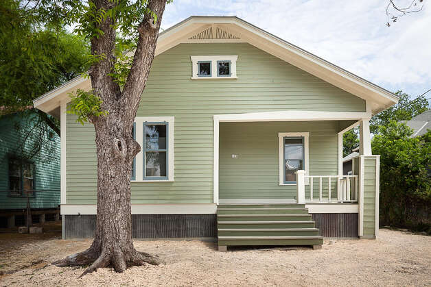 This remodeled home in the Lavaca neighborhood won an award in the green renovation category for its use of recycled and salvaged materials. Photo: Scott Martin