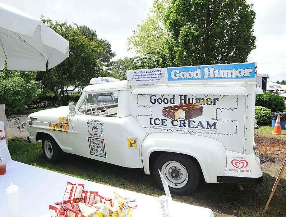 The driver's door of a 1967 Ford F 250 Good Humor Ice Cream truck owned by Maya Cigal of Redding, Conn., durng the Greenwich Concours d'Elegance at Roger Sherman Baldwin Park in Greenwich, Saturday, June 2, 2012. Photo: Bob Luckey