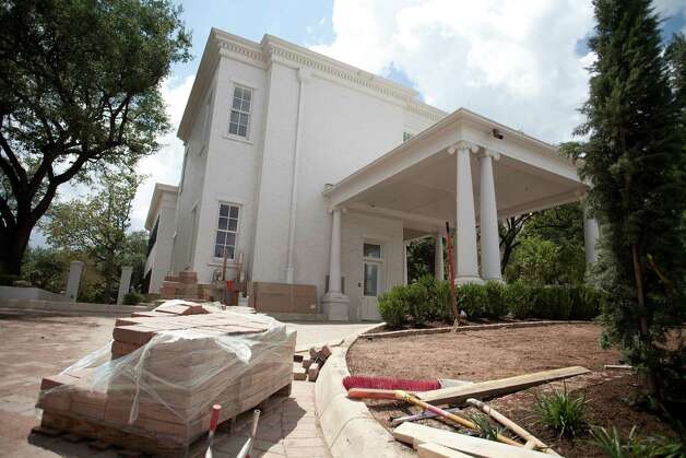The Governor's Mansion is almost ready for Texas' first family to resume residence. An arson fire nearly destroyed the building in 2008 but new security systems will protect the structure when the Governor and family move back in late July. Photo: Julia Robinson / Julia Robinson © 2012