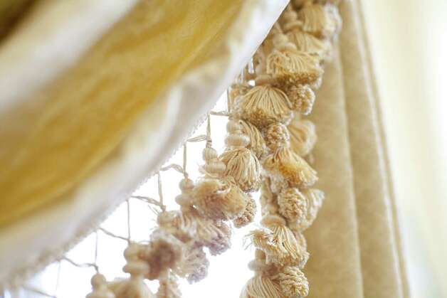 The drapes were made in the 1980's and had been removed from the Mansion prior to the 2008 fire in preparation for planned renovations. Photo: Julia Robinson / Julia Robinson © 2012