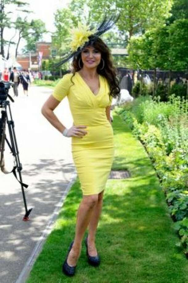 ASCOT, ENGLAND - JUNE 19: Lizzie Cundy attends day one of Royal Ascot at Ascot Racecourse on June 19, 2012 in Ascot, England. (Ben Pruchnie / Getty)