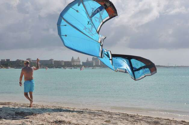 Windsurfer on Arashi Beach in Aruba. Photo: Melissa Ward Aguilar