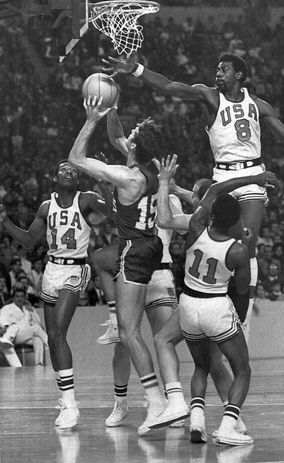 Spencer Haywood (8) was a little-known junior college player when he led the U.S. to a gold medal. Photo: AP