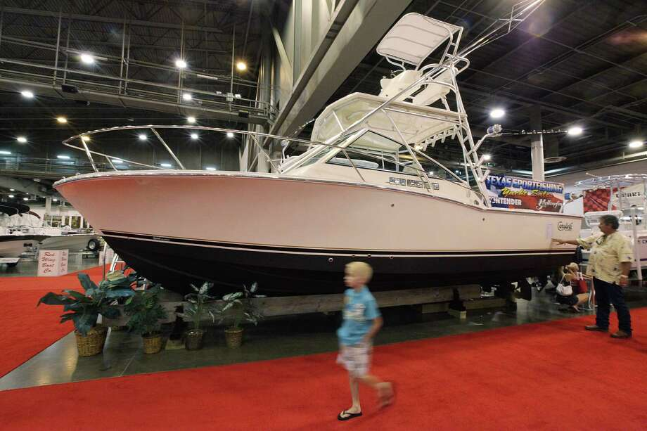 A Carolina Classic 28 is on display during the 25th Annual Houston Summer Boat Show. Photo: Mayra Beltran, Houston Chronicle / © 2012 Houston Chronicle