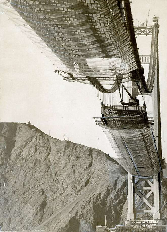 November 9, 1936 - The Golden Gate Bridge under construction. Photo: Chronicle Archives