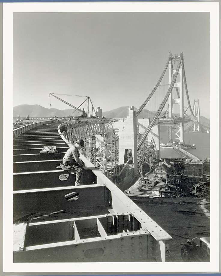 The Golden Gate Bridge under construction. Photo: Chronicle Archives, Charles Hiller