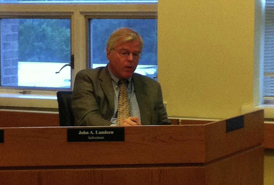 After meeting with New Canaan officials about the Hoyt Street sidewalk proposal, Darien Selectman John Lundeen says he is pleasantly surprised by the neighboring town's priorities regarding sidewalk needs in a Board of Selectmen meeting Monday, June 18, 2012. Darien, Conn. Photo: Thomas Michael