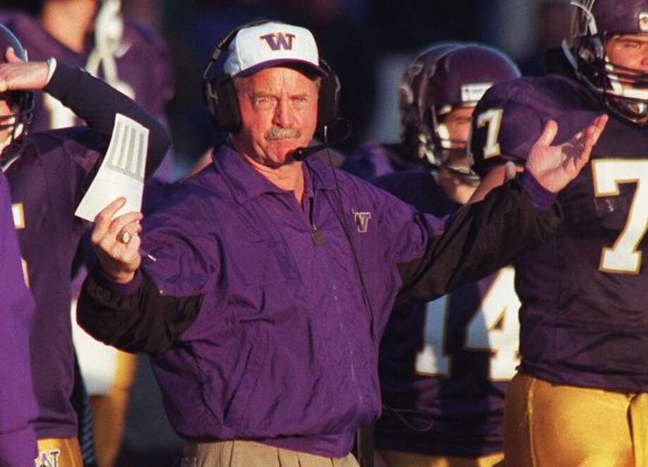 Jim Lambright played defensive end at UW and then returned five years later as an assistant coach. He was defensive coordinator for 16 years and assistant head coach for six more, before taking over the team in 1993. Lambright's Huskies were respectable, going 44-25-1, with four bowl appearances and a shared Pac-10 Conference title. But the team lost three of those four bowl games. Lambright was fired in 1998. Photo: GRANT M. HALLER/SEATTLEPI.COM FILE