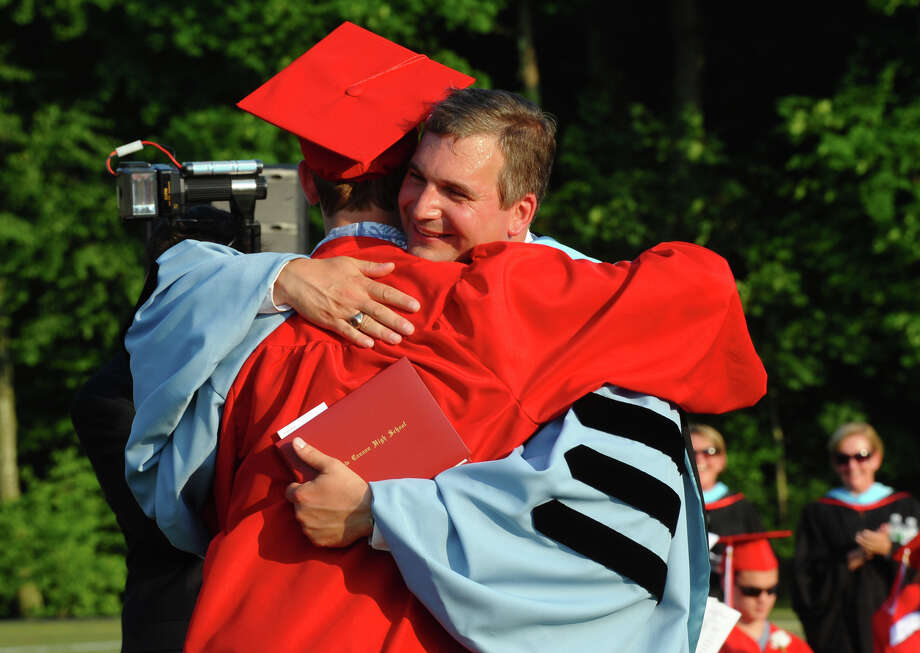 Highlights from New Canaan High School's Class of 2012 Graduation Ceremony in New Canaan, Conn. on Wednesday June 20, 2012. Photo: Christian Abraham / Connecticut Post