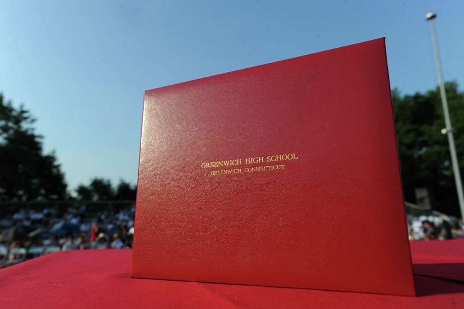 The Greenwich High School 2012 commencement at Cardinal Stadium Wednesday night, June 20, 2012. Photo: Bob Luckey / Greenwich Time