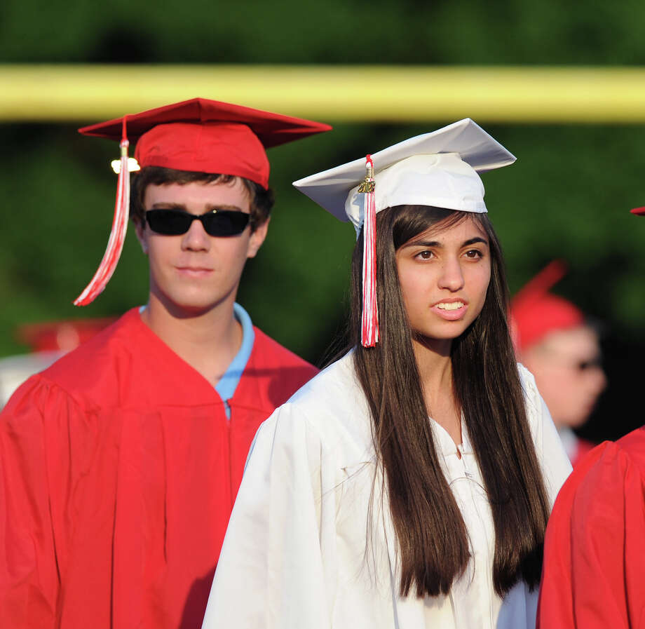 Brooke Nethercott during the Greenwich High School 2012 commencement at Cardinal Stadium Wednesday night, June 20, 2012. Photo: Bob Luckey / Greenwich Time
