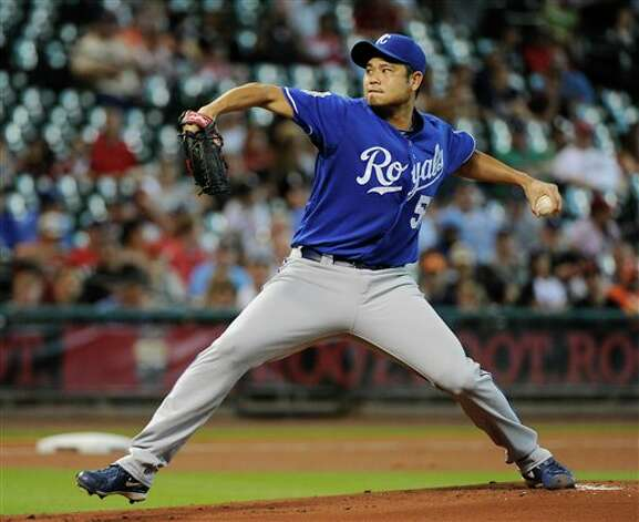 Kansas City Royals' Bruce Chen delivers a pitch against the Houston Astros in the first inning of a baseball game Wednesday, June 20, 2012, in Houston. (AP Photo/Pat Sullivan) Photo: Associated Press