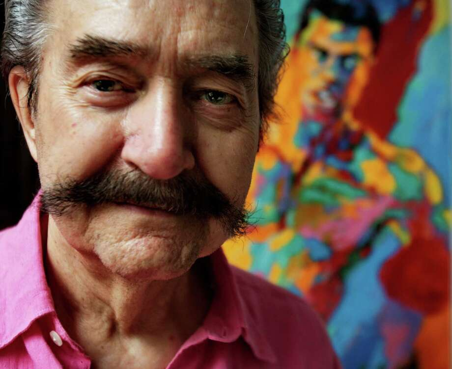 FILE - In this Aug. 31, 2007 file photo, artist LeRoy Neiman poses in his studio in New York. Neiman, who is best known for his colorful and energetic paintings of sporting events, died Wednesday, June 20, 2012 in New York. He was 91. (AP Photo/Bebeto Matthews, File) Photo: Bebeto Matthews